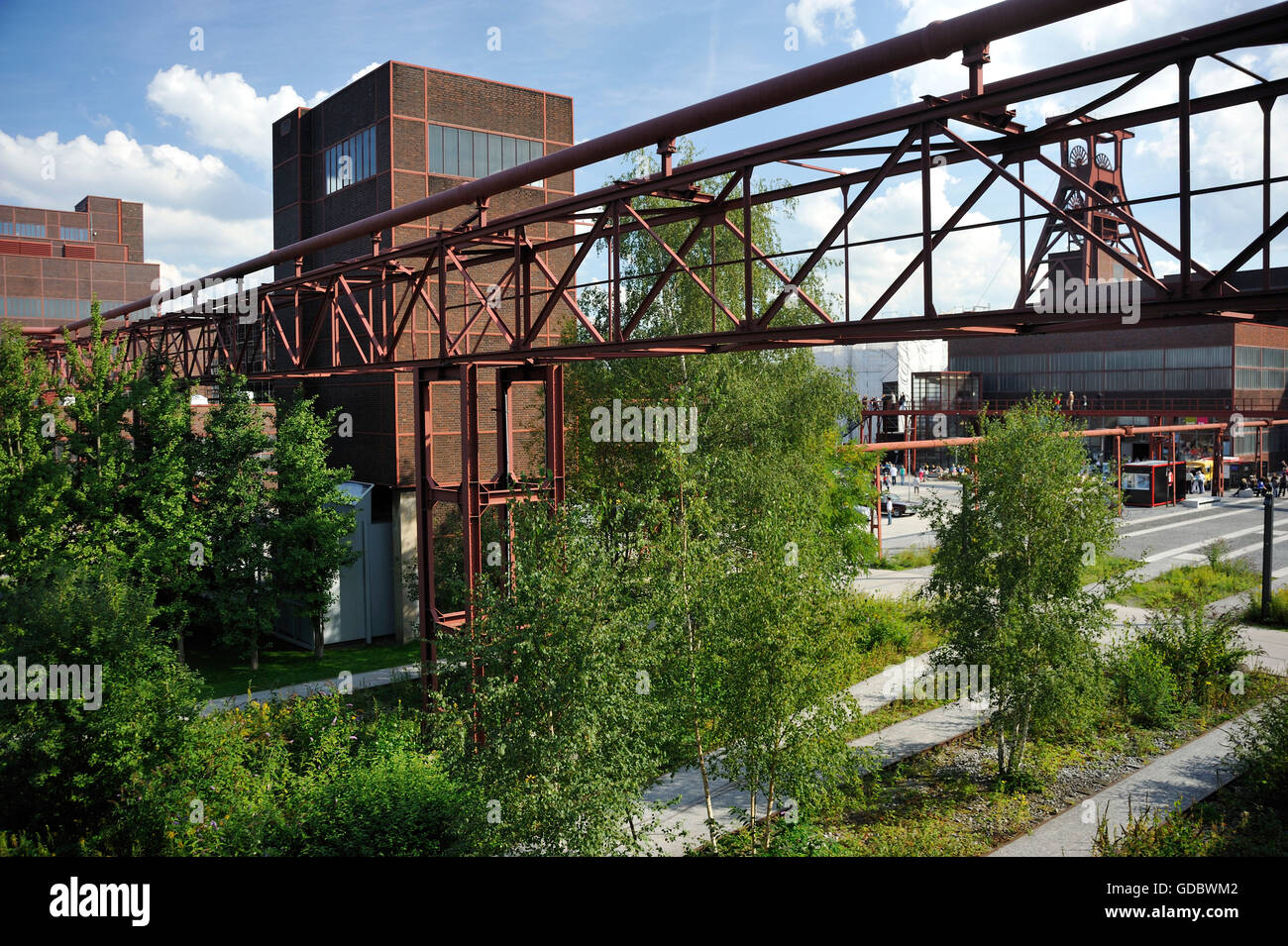Coal mine Zollverein, Essen, Ruhr area, North Rhine-Westphalia, Germany / Industrial Heritage Trail - Stock Image