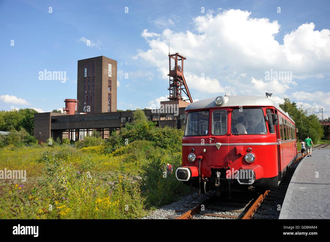 Coal mine Zollverein, industrial memorial, Essen, Ruhr area, North Rhine-Westphalia, Germany / Industrial Heritage - Stock Image