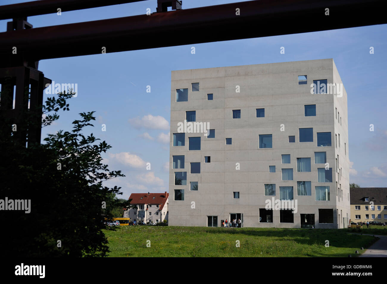 Sanaa building, Coal mine Zollverein, industrial memorial, Essen, Ruhr area, North Rhine-Westphalia, Germany / Industrial - Stock Image