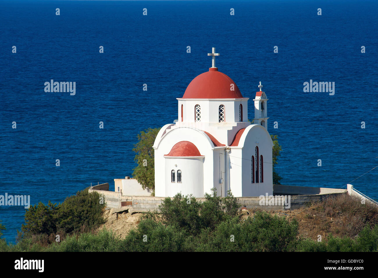 Nea Mirtos Church , South Coast, Crete, Greece - Stock Image