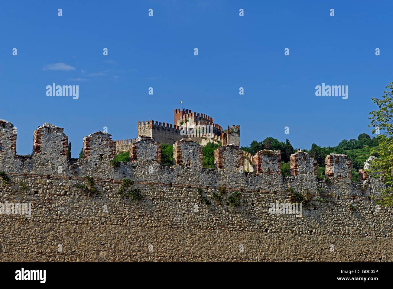 Town wall,Scalierburg,Castello Medievale Stock Photo
