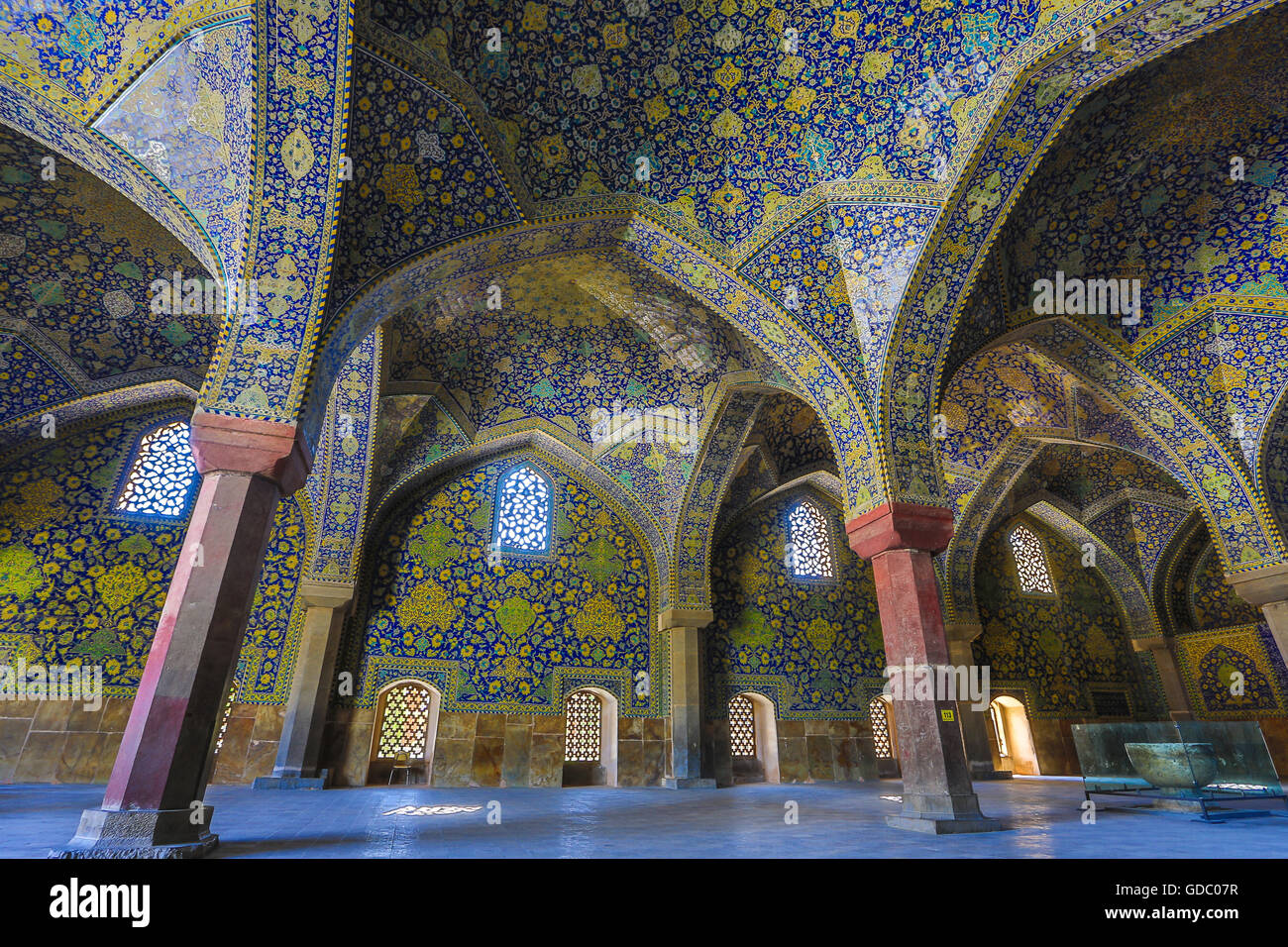 masjed-e shah mosque in esfahan city - Stock Image
