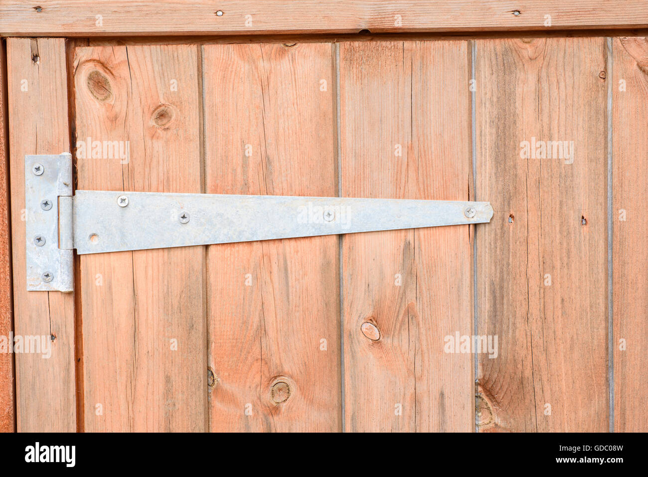 Heavy Duty Hinge On A Wooden Shed Door