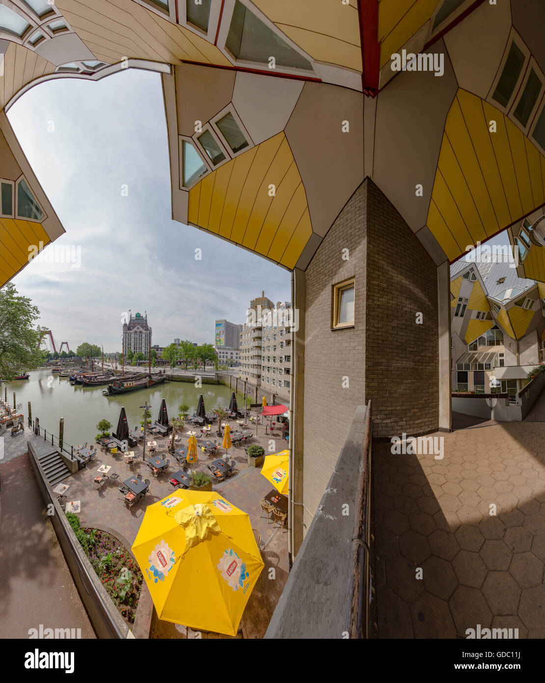 Rotterdam,Cube houses,the Old Harbour,the White Hous,the William bridge - Stock Image