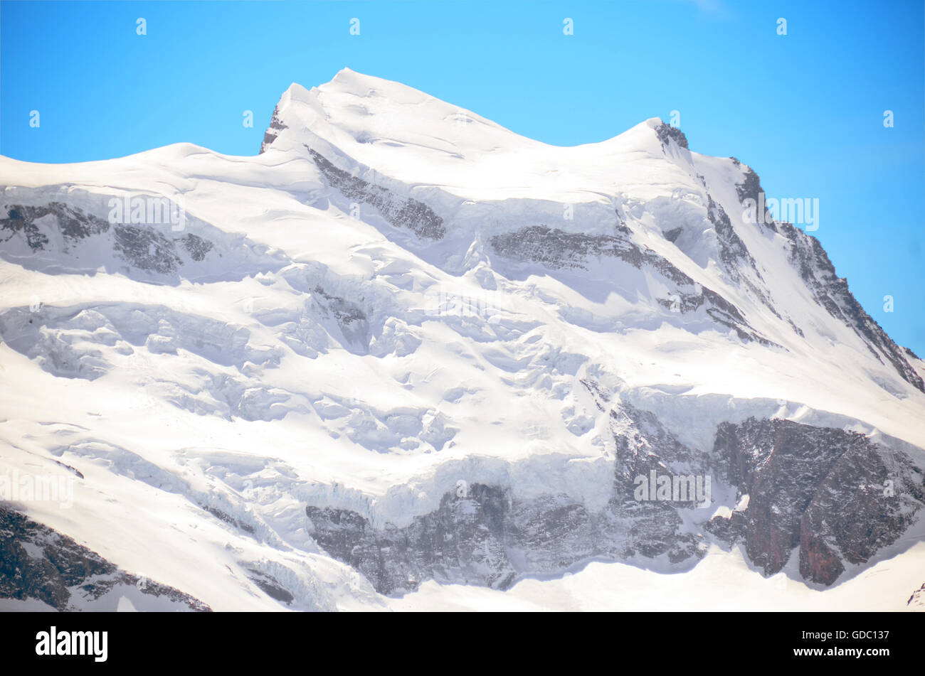 Grand Combin in Valais - Stock Image