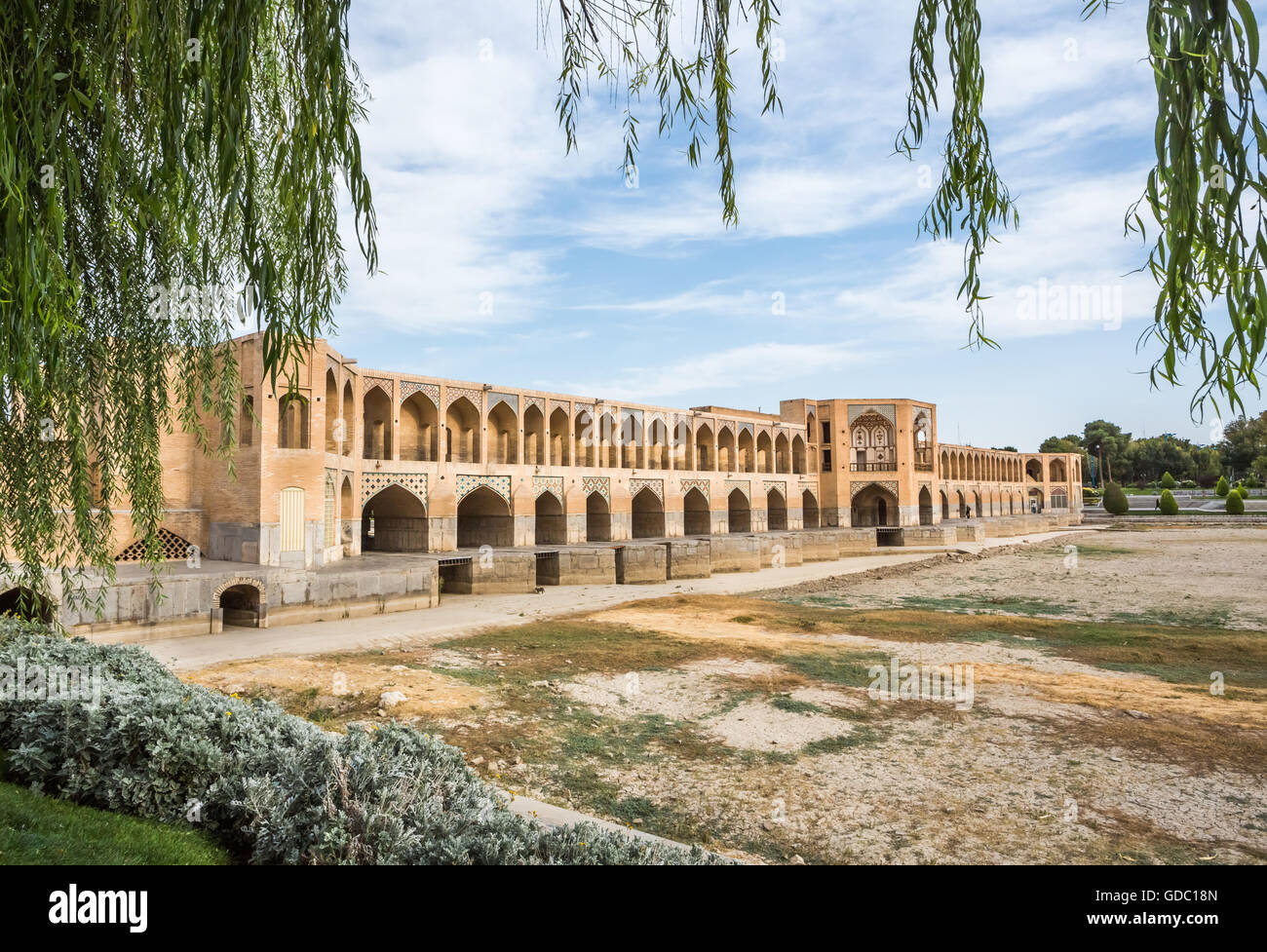 Iran,Esfahan City,Si-o-Sej Bridge,UNESCO,world heritage, - Stock Image