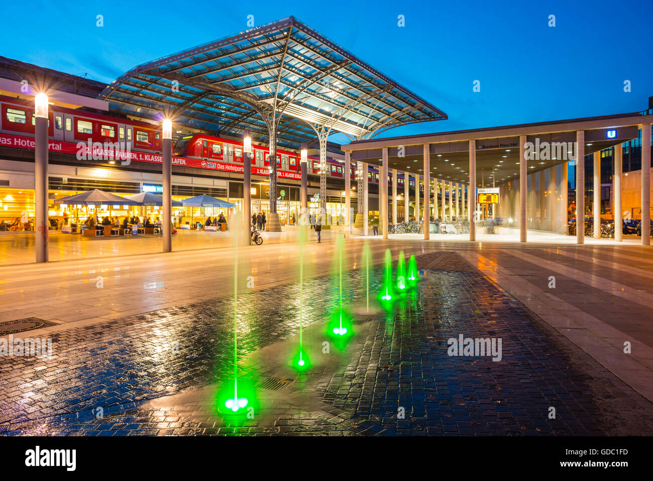 Breslau place,entrance to the central station,Cologne,North Rhine-Westphalia,Germany,Europe - Stock Image