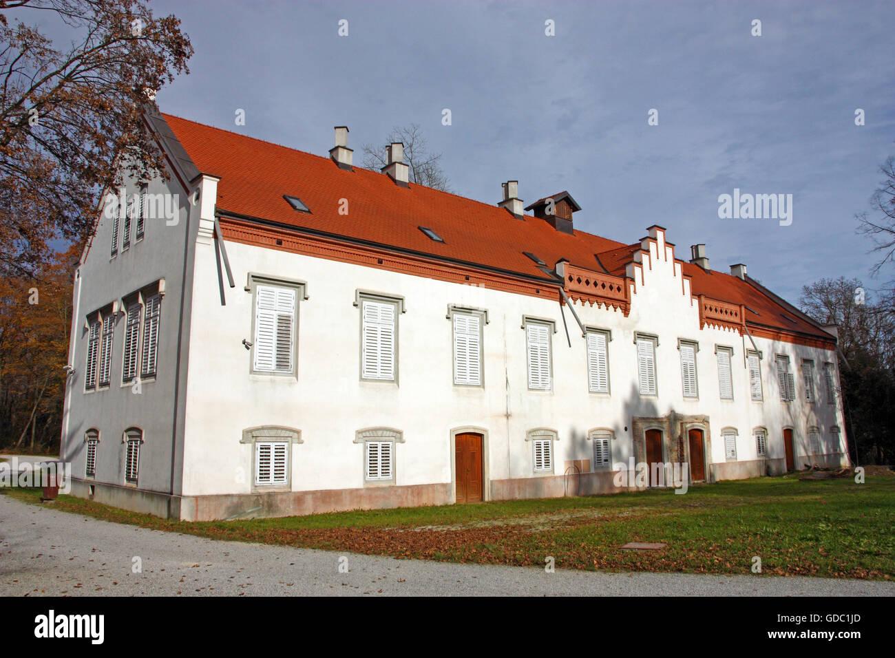 Novi Dvori Castle built in the 16th century, Zapresic, Croatia Stock Photo