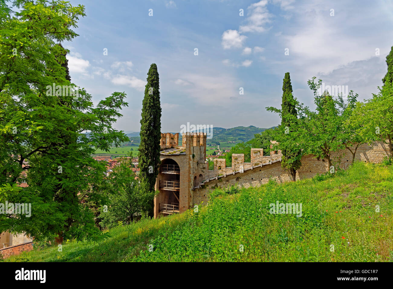 Scalierburg,Castello Medievale,tower,rook,wall Stock Photo