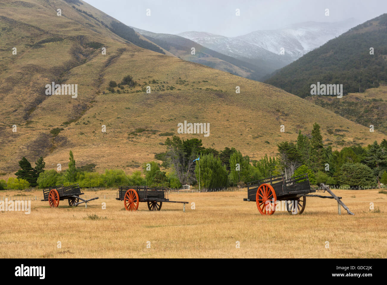 South America,Argentina,Patagonia,Santa Cruz,Puerta Bandera - Stock Image