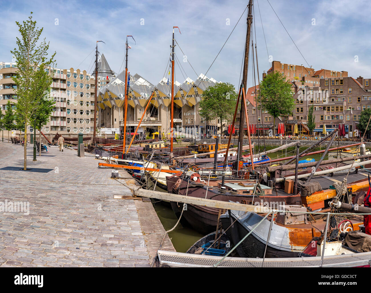 Rotterdam,Cube houses,the Old Harbour - Stock Image