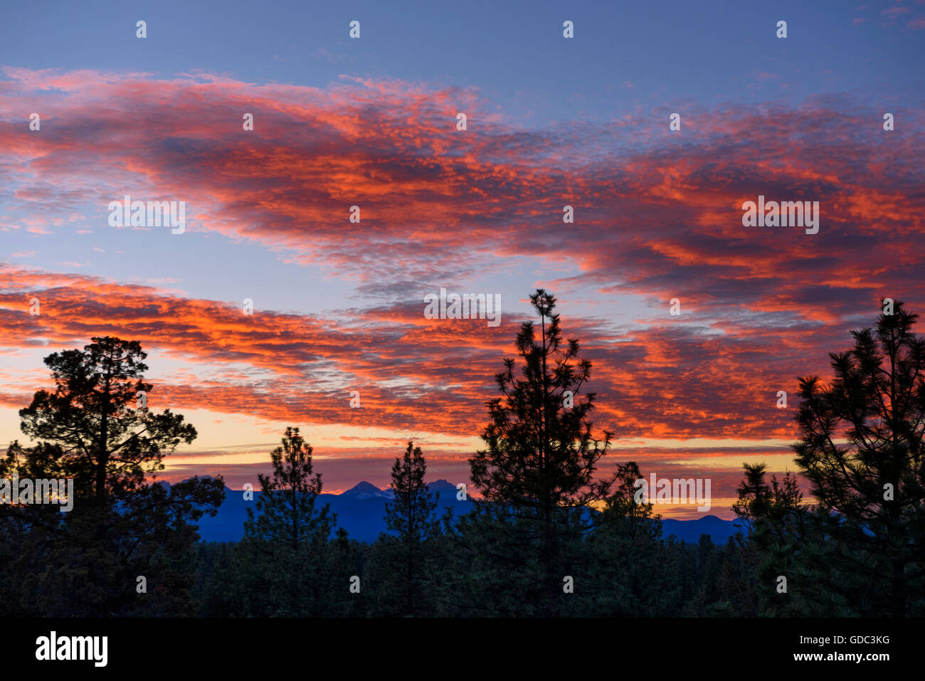 Blazing Sunset - Stock Image