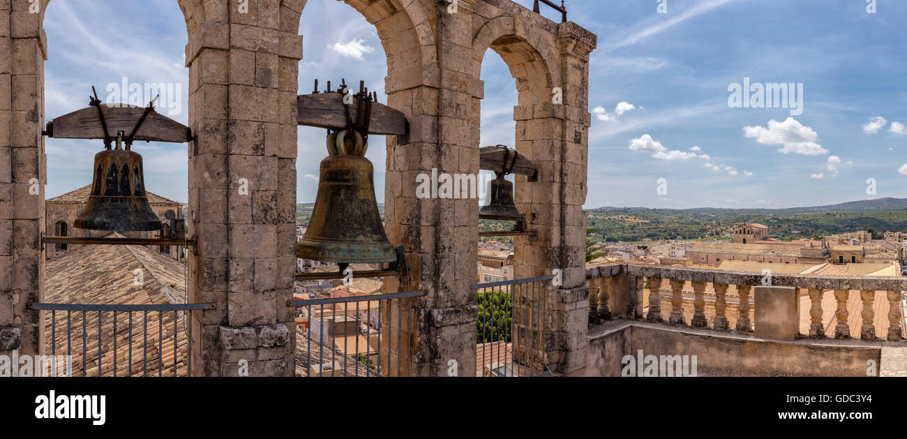 The bells of the San Carlo church - Stock Image