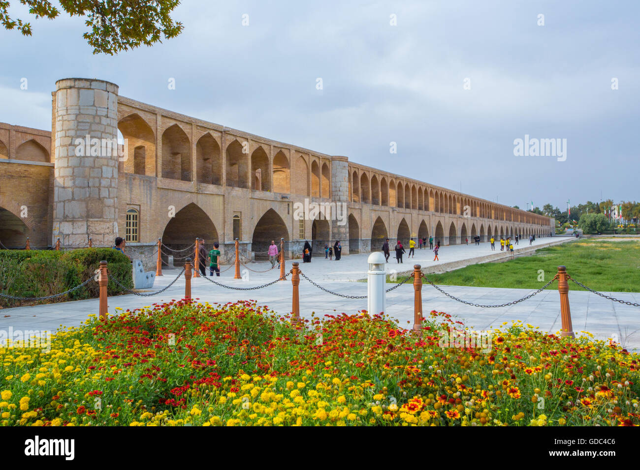 Iran,Esfahan City,Pol-e Khaju Bridge - Stock Image
