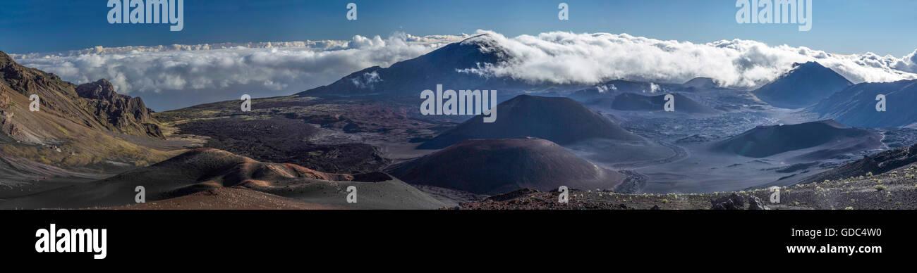 Haleakala,crater,Maui,USA,Hawaii,America,Volcanical,panorama, - Stock Image