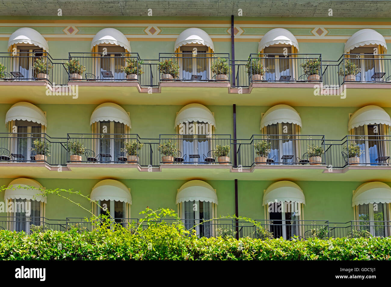 Hotel San Pietro,detailed view - Stock Image