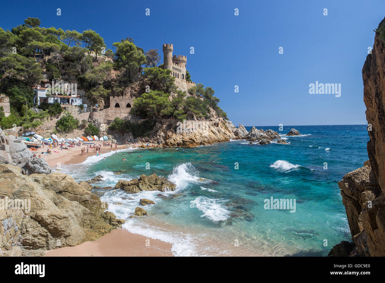 Spain,Catalonia,Costa Brava,Lloret de Mar City, - Stock Image