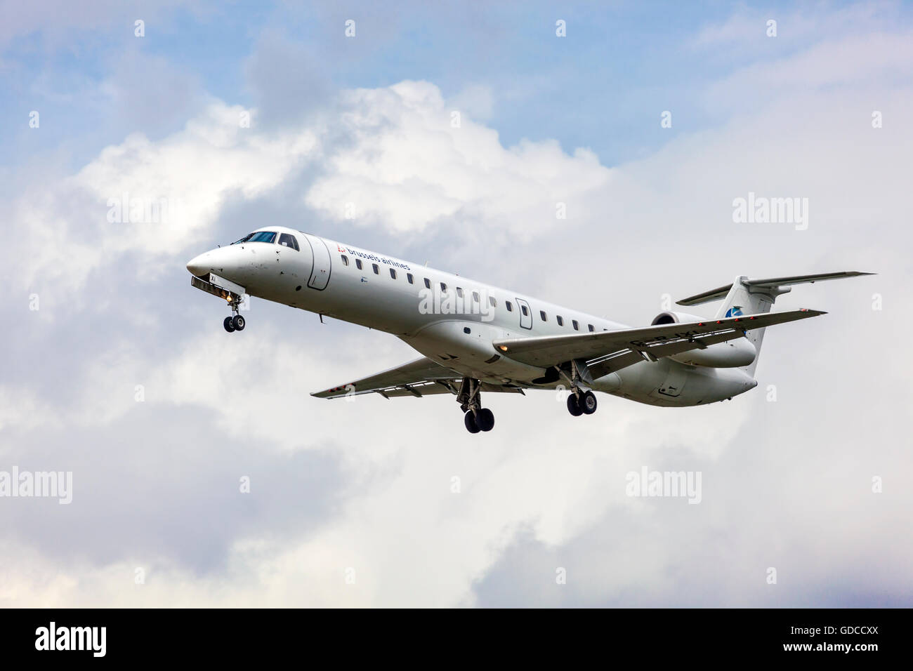 Brussels Airlines Regional Embraer - Stock Image