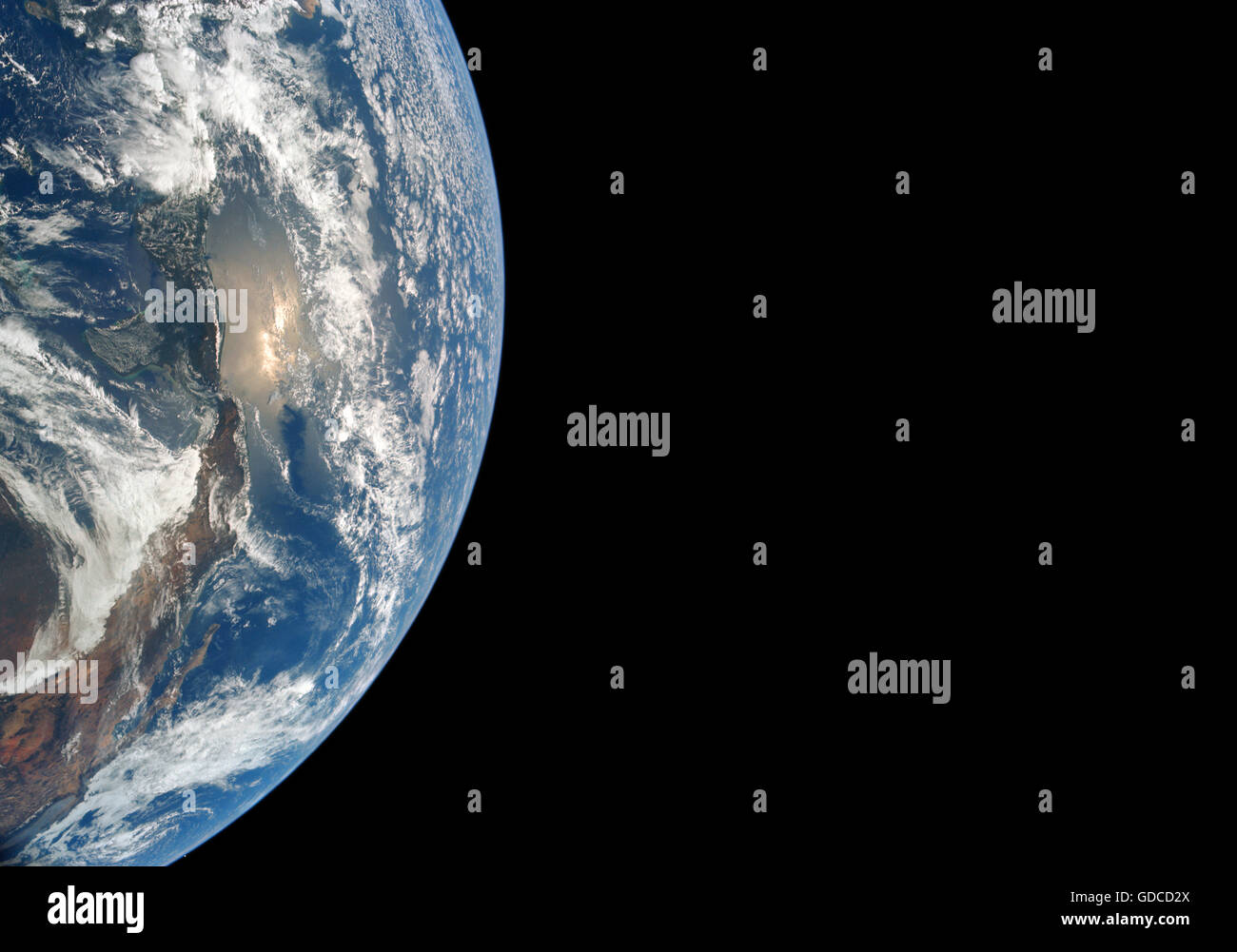 The earth viewed from space. High resolution enhanced image. Unique optimised and enhanced version of an original - Stock Image
