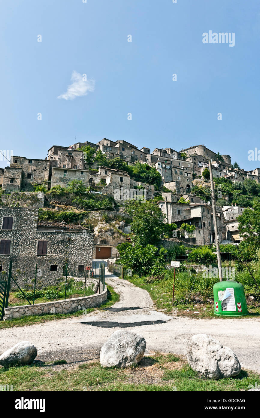Small town of Prata Sannita, Caserta, Campania, Italy, Europe Stock Photo