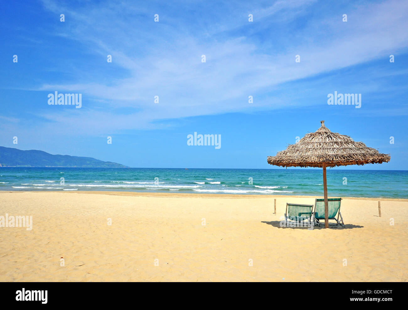 Beautiful beach on South China sea - Stock Image