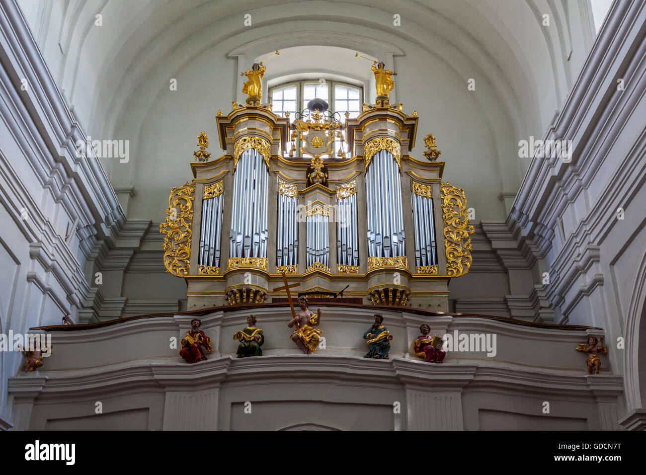 Janow Podlaski, baroque church, organs Poland, Podlasie, Europe. - Stock Image