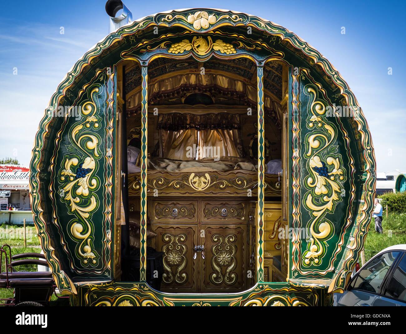 A Gypsy Caravan At The Appleby Horse Fair In Cumbria