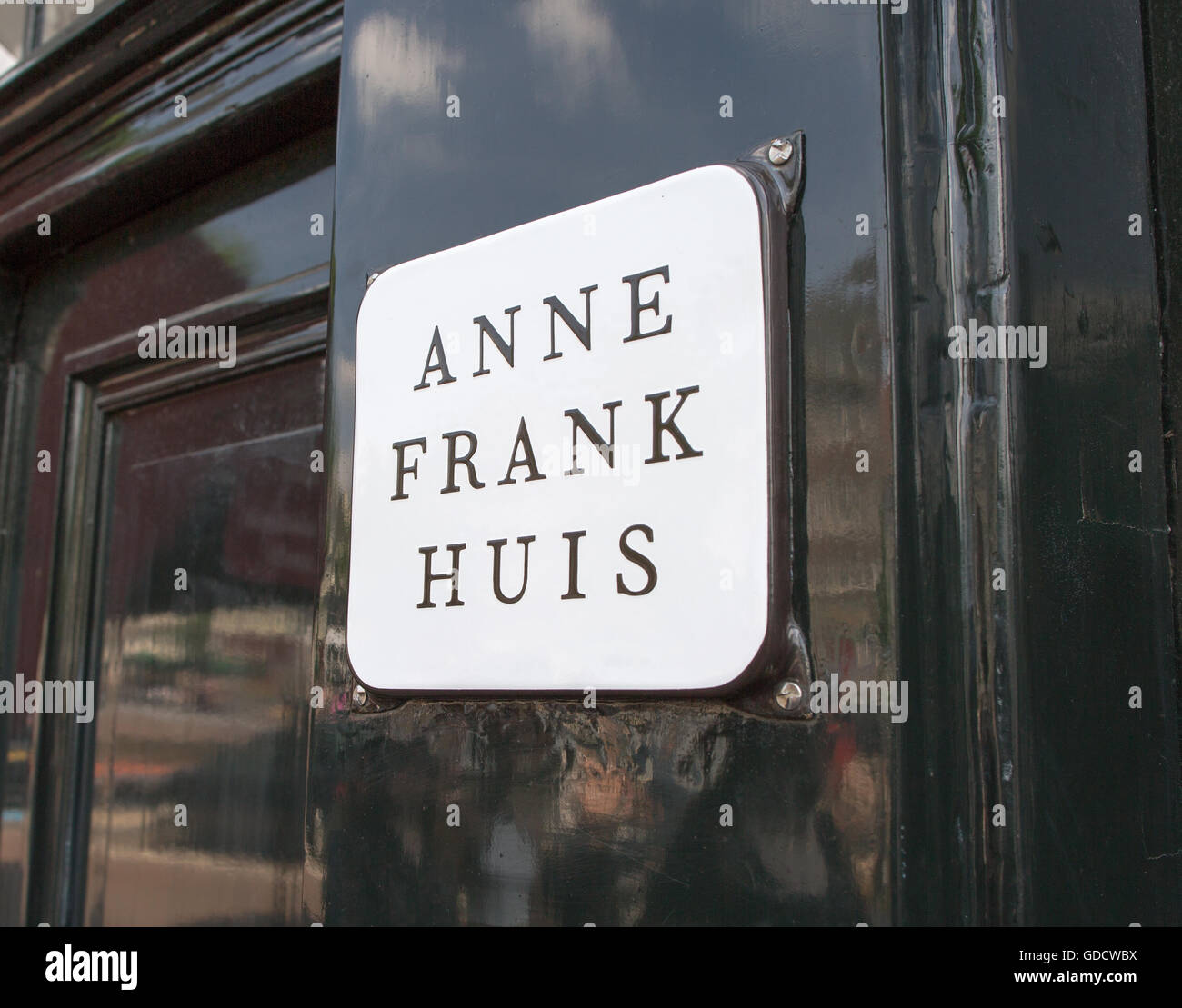 Anne Frank House Amsterdam Holland - Stock Image