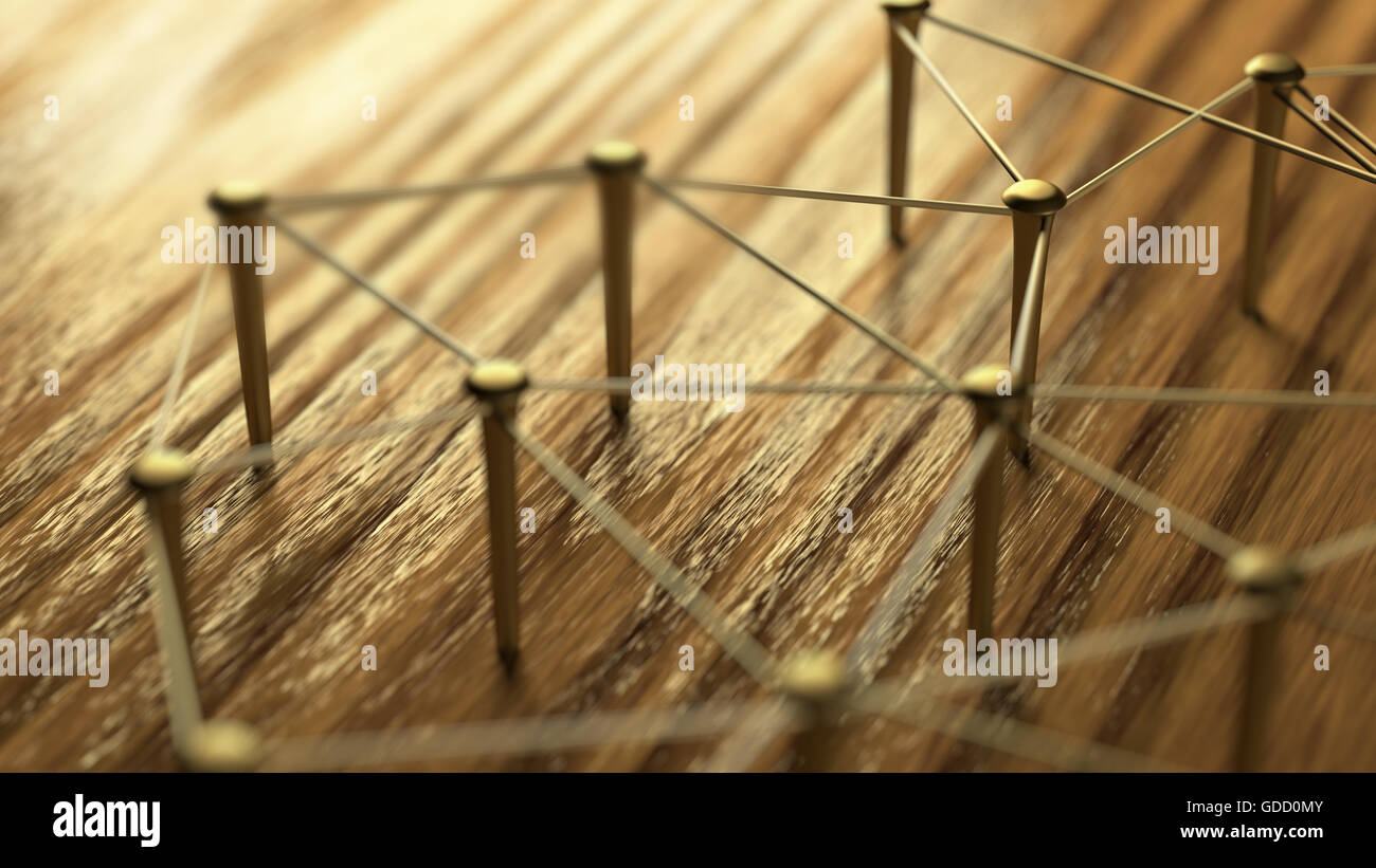Gold Wires Stock Photos Images Alamy Connect Network Networking Wire Linking Entities Of On