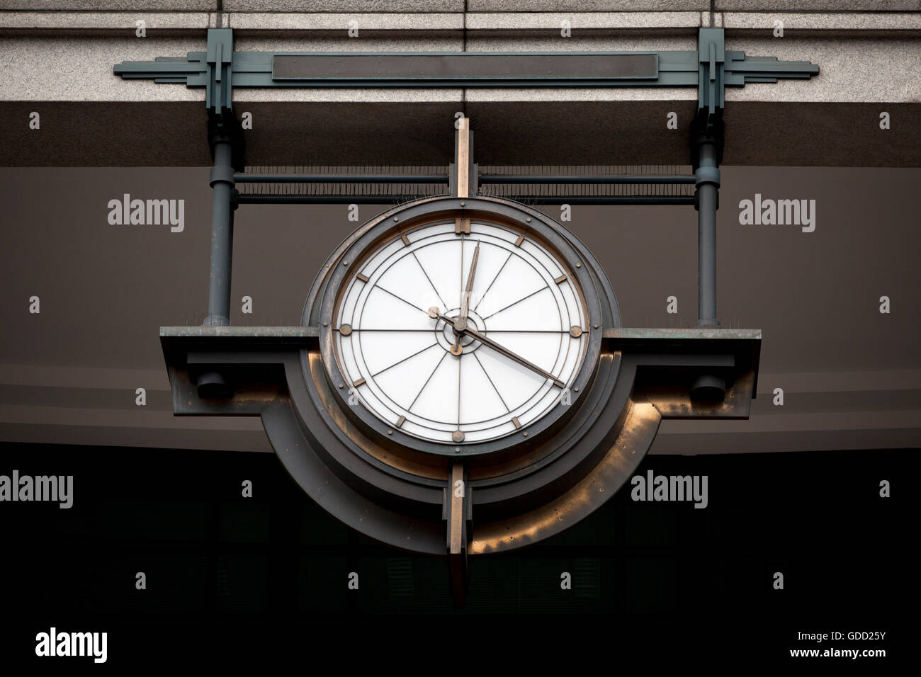 Rustical old clock in the centre of London - Stock Image
