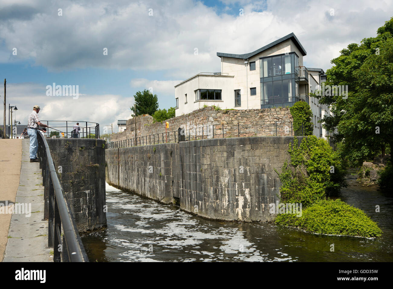 Ireland, Co Galway, Galway, Eglinton Canal flowing towards Corrib River - Stock Image