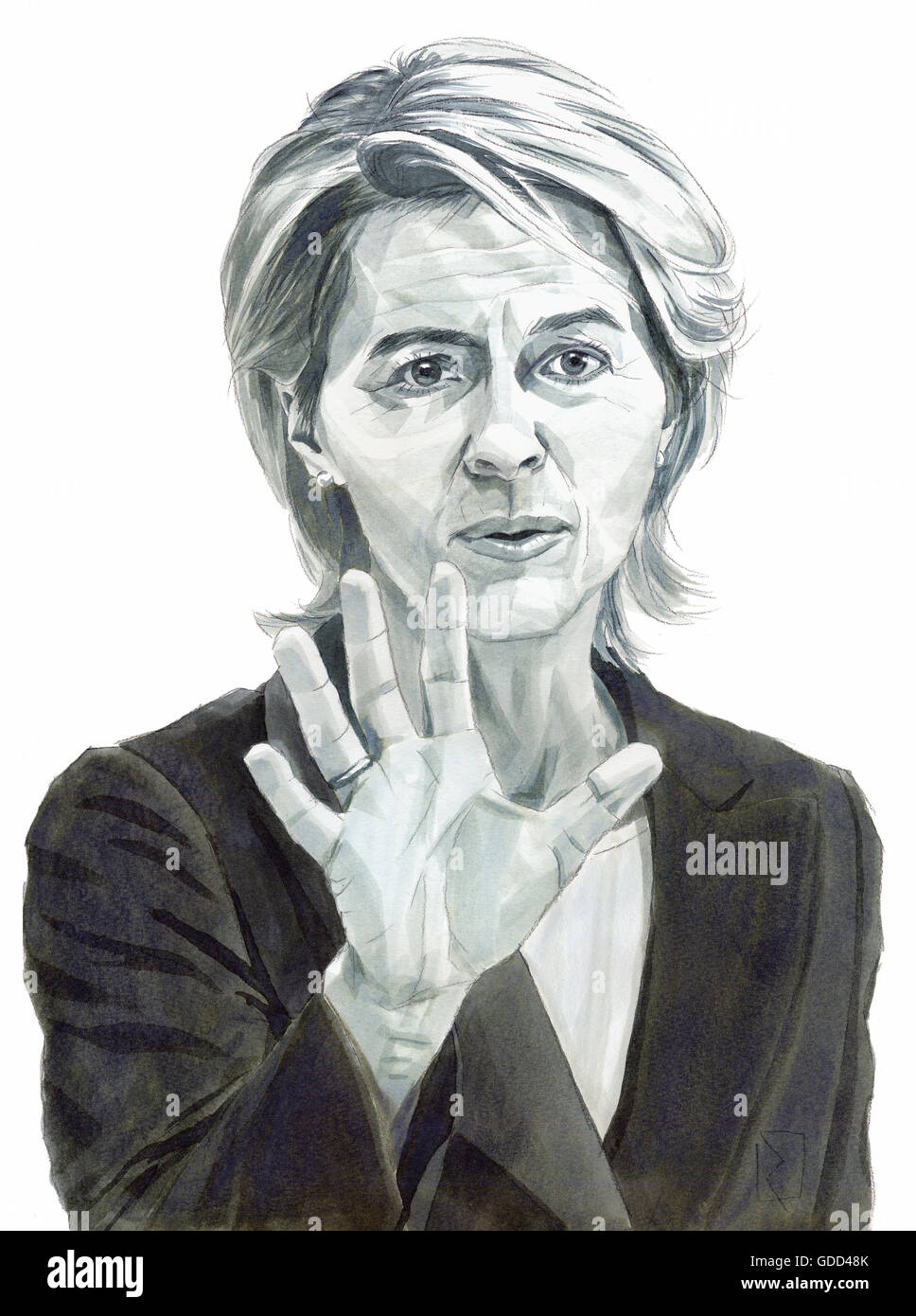 Leyen, Ursula von der Leyen, * 8.10.1958, German politician (CDU), Federal Defence Minister since 2013, portrait, - Stock Image