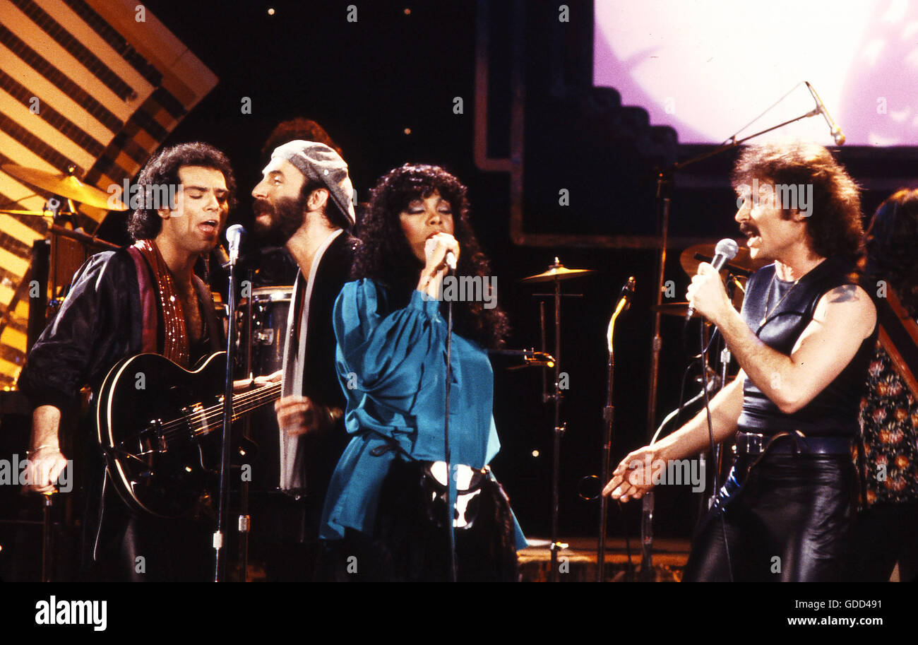 Donna Summer and Brooklyn Dreams, 1970s Stock Photo