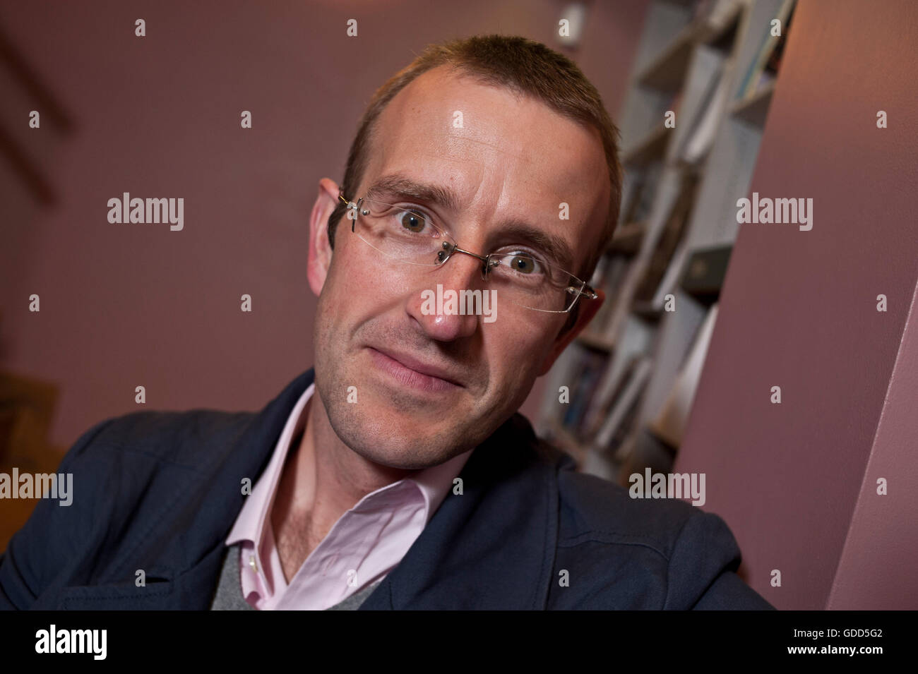 Acclaimed UK nature writer Robert Macfarlane at the London Review of Books Bookshop London Wc1 to talk about his - Stock Image