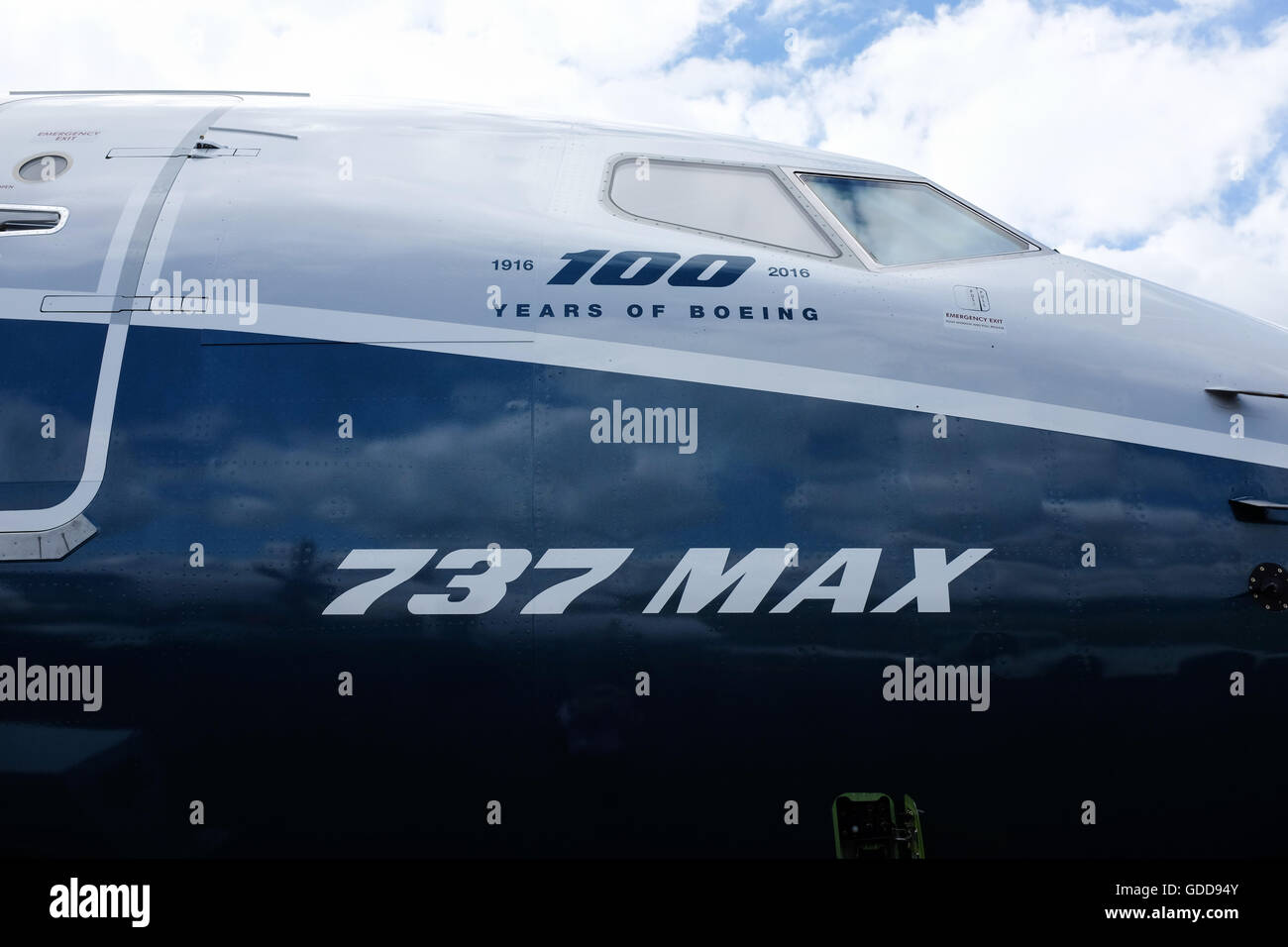 Part of the Boeing 737 Max 8 aircraft. - Stock Image