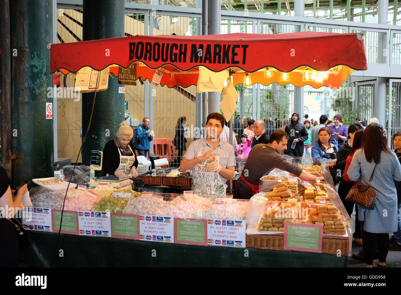 Borough Market in London, England. - Stock Image