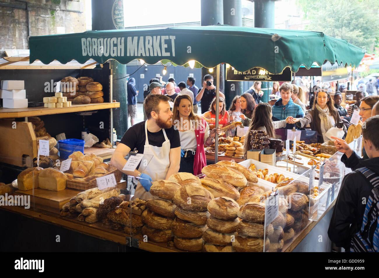 Borough Market in London, England. - Stock Image