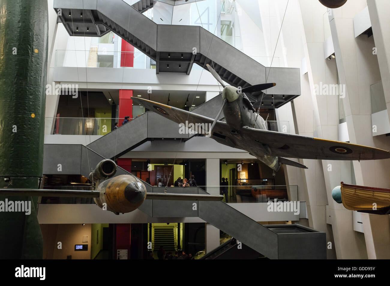 The main interior of the Imperial War Museum in London, England. - Stock Image