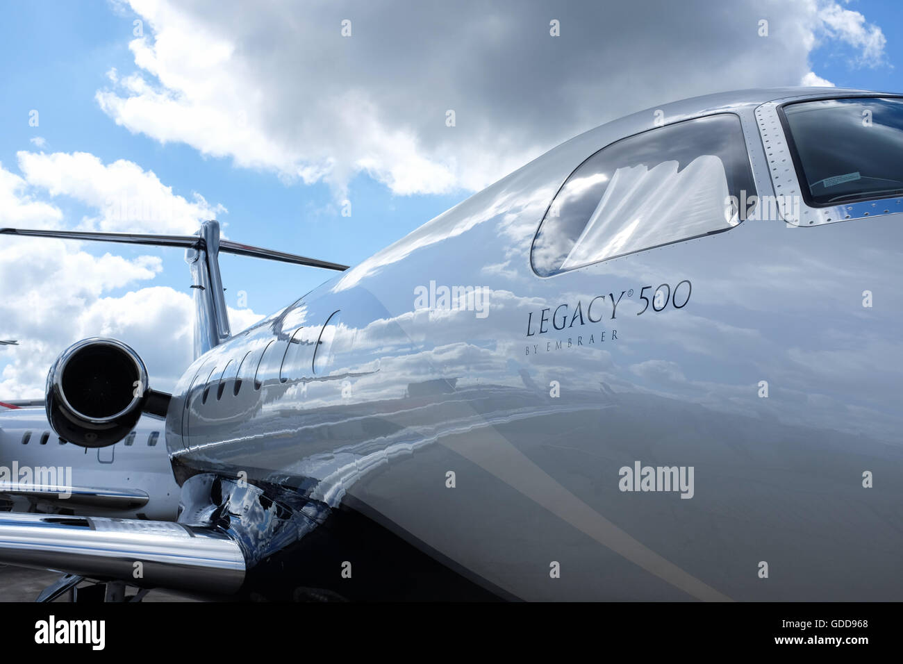 The Legacy 500 business jet by Embraer. - Stock Image