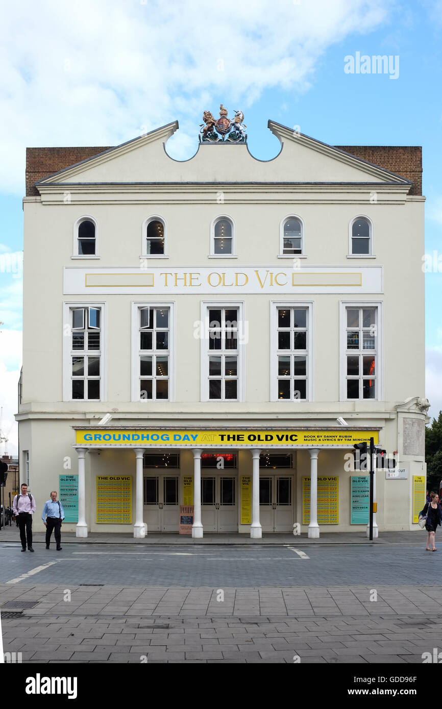 The Old Vic theatre in London, England. - Stock Image