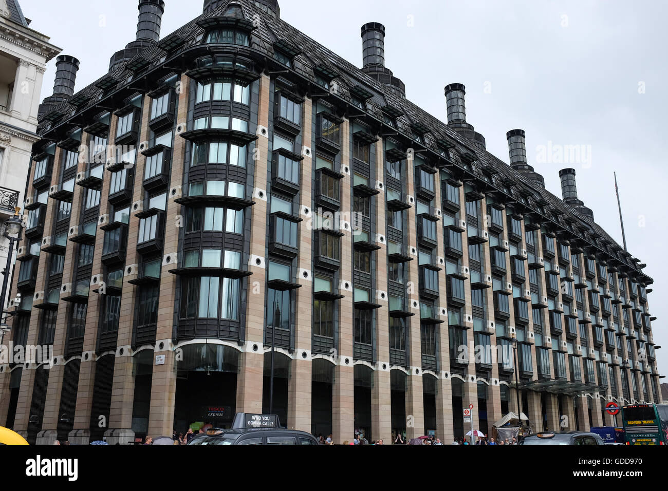Portcullis House in Westminster, London, England. - Stock Image