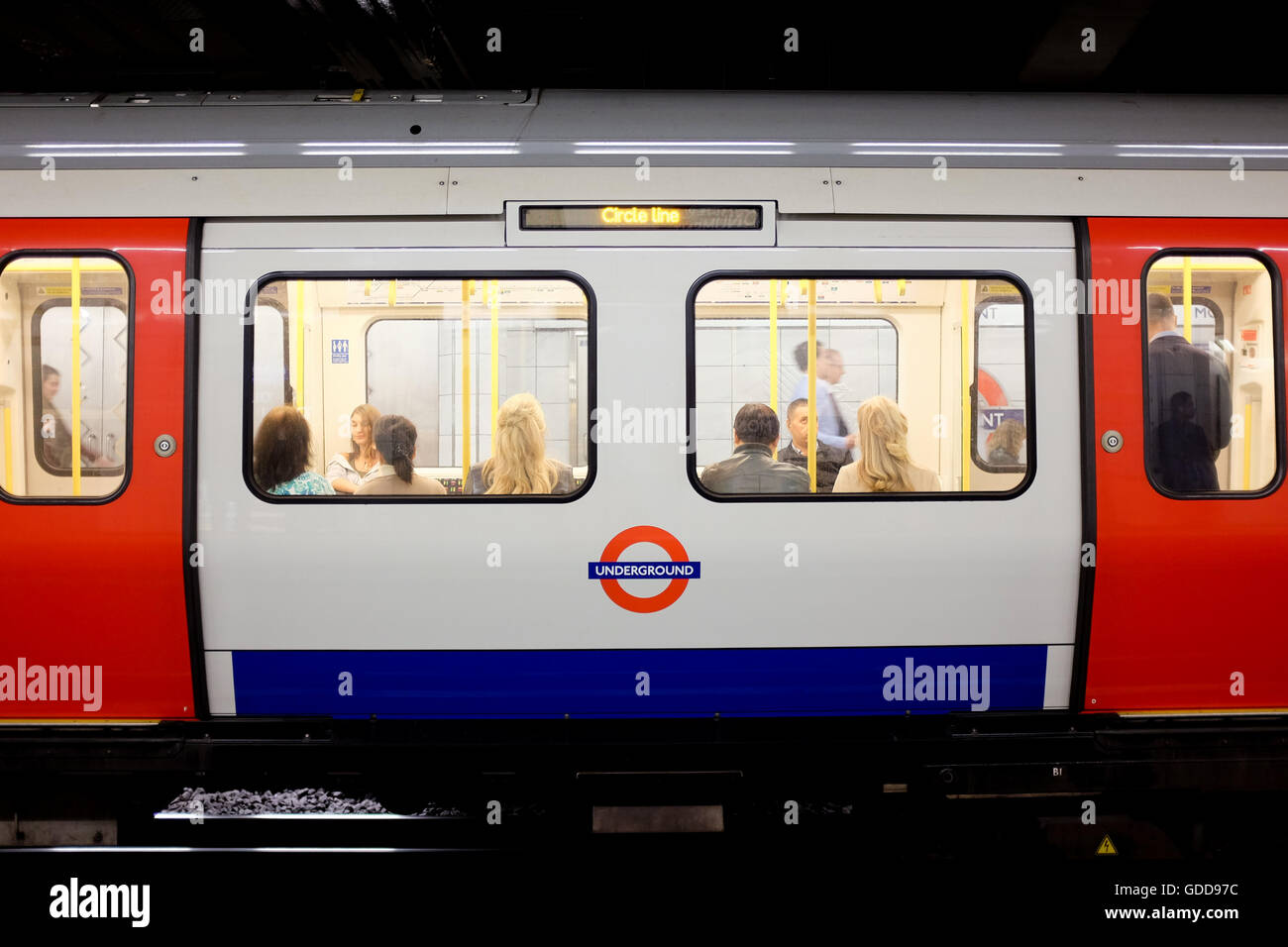 A train on the the London Underground network. - Stock Image