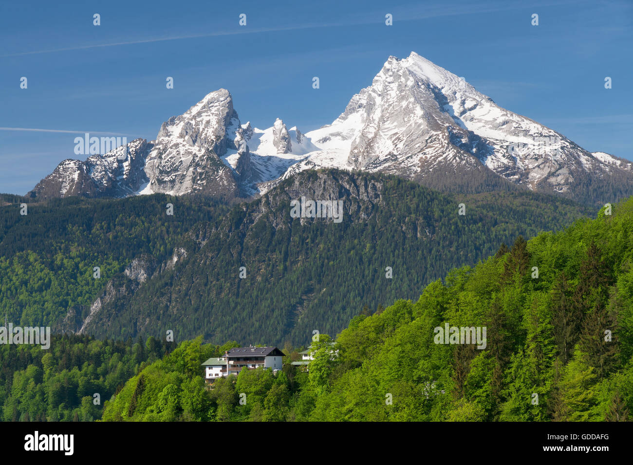 imposing Watzmann (2,713 meter) in the Berchtesgaden area,Germany - Stock Image