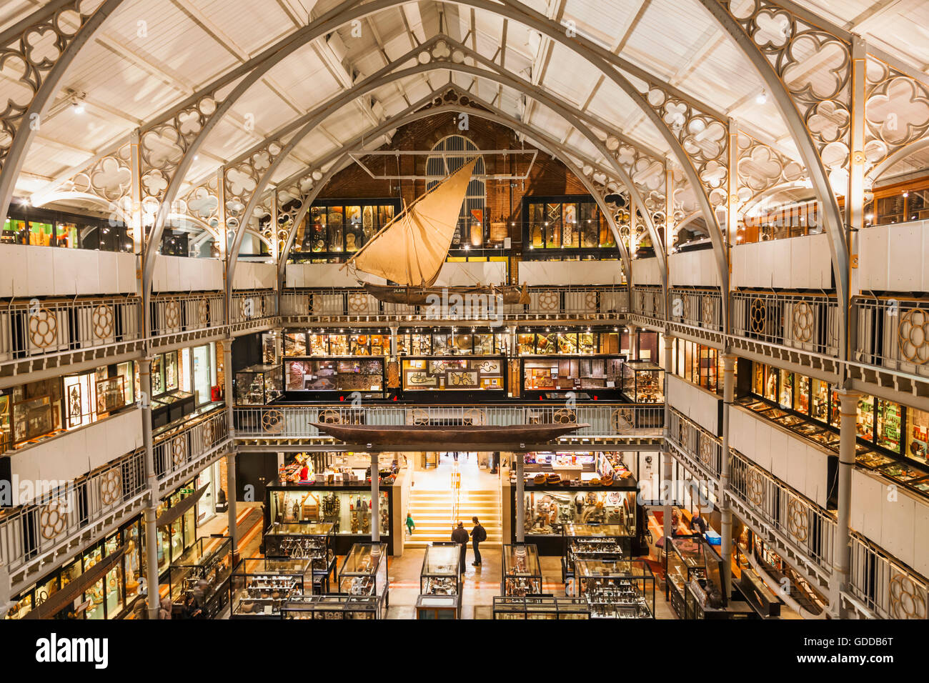 England,Oxfordshire,Oxford,Pitt Rivers Museum,Interior View - Stock Image