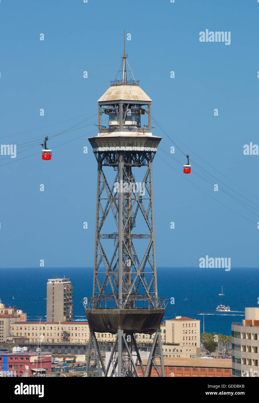Spain,Catalonia,Barcelona City,Harbour Tower. - Stock Image