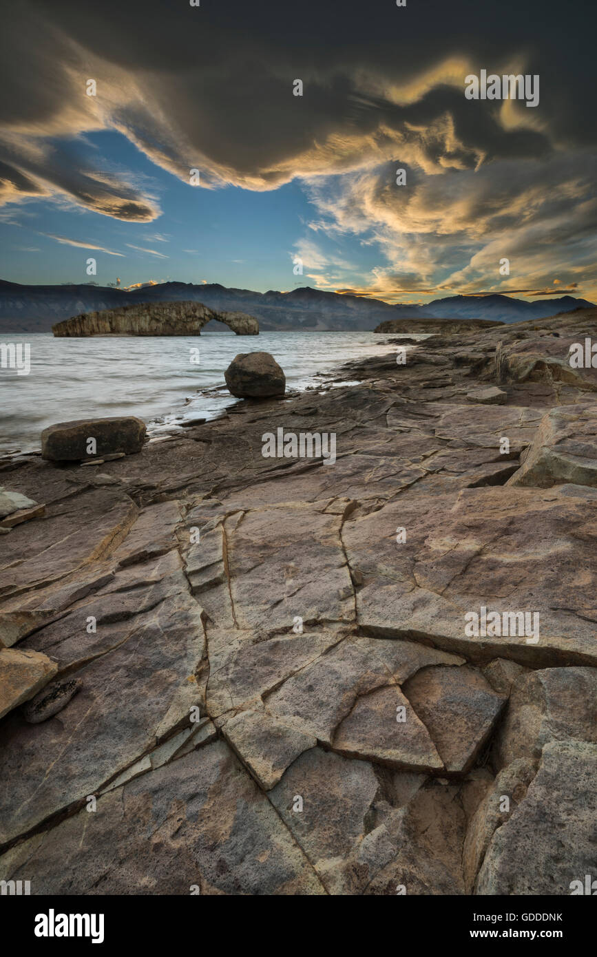 South America,Argentina,Santa Cruz,Patagonia,Lago Posadas - Stock Image