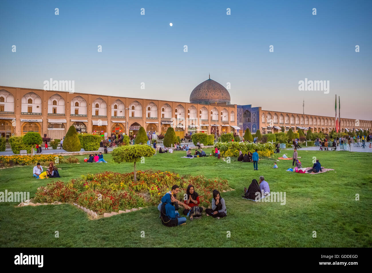 Iran,Esfahan City,Naqsh-e Jahan Square,Sheikh Lotfollah Dome - Stock Image
