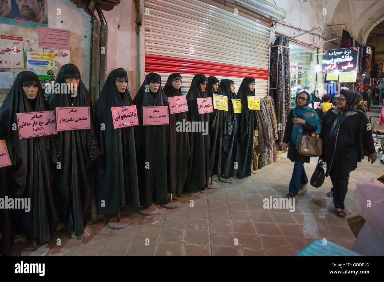 Iran,Yazd City,Shop at Yazd Bazaar, - Stock Image