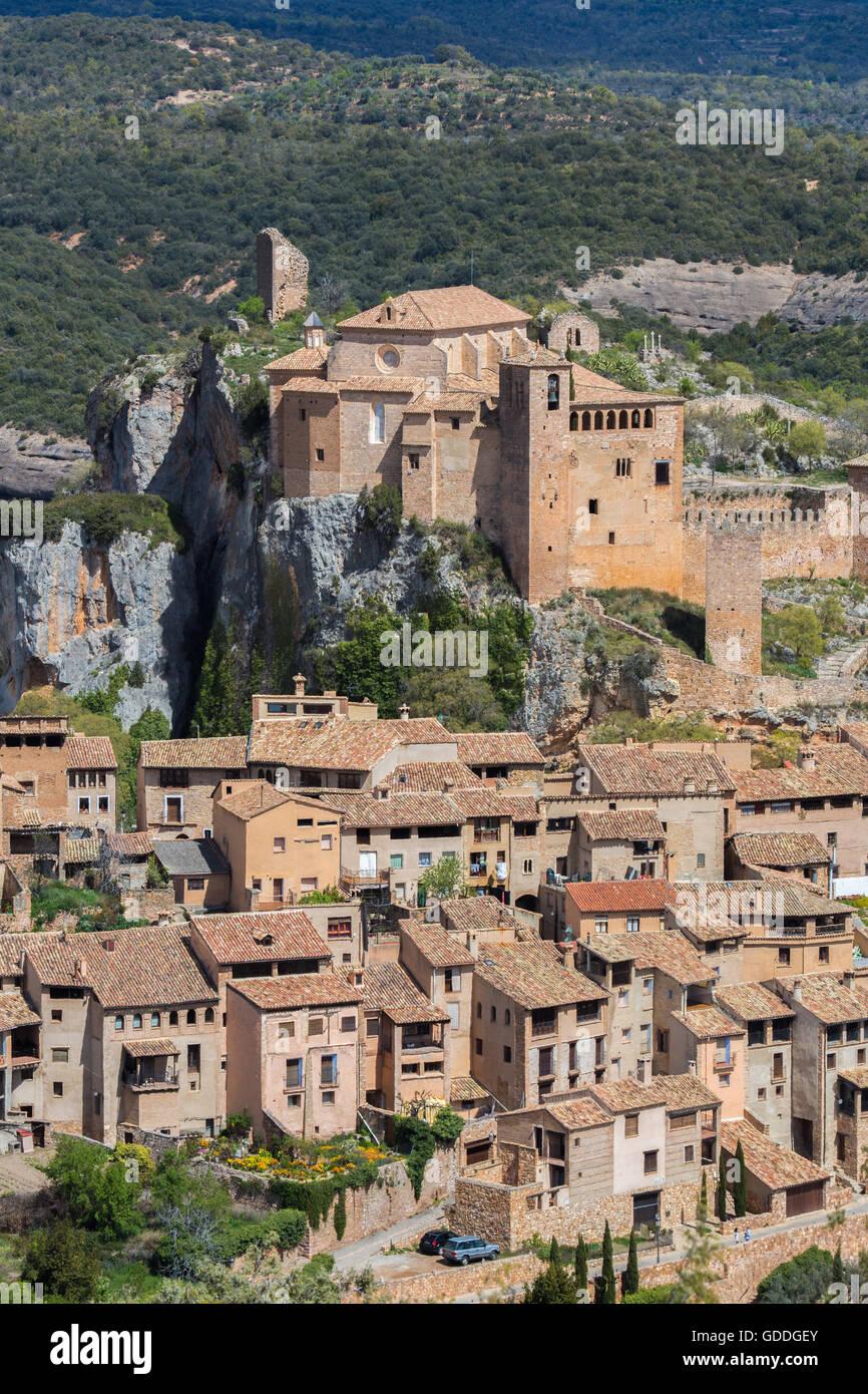 Spain,Huesca Province,Alquezar City,Santa Maria Colegiata Stock Photo