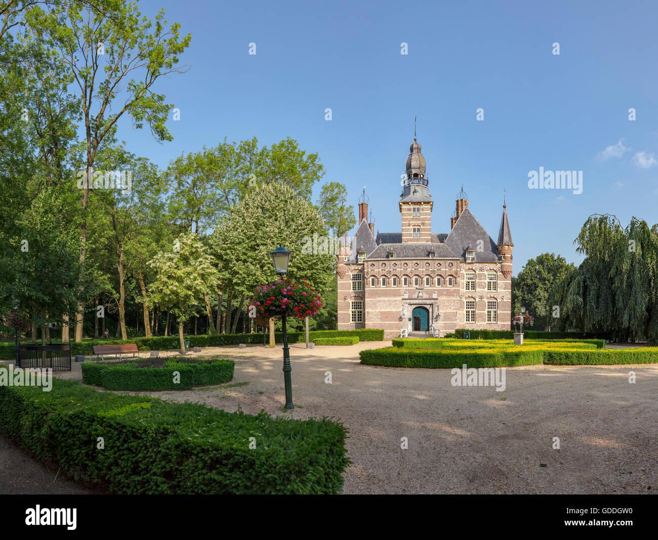 Wijchen,Gelderland,Museum,formal garden Stock Photo